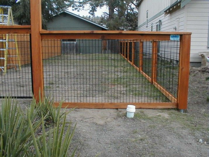 Fence with wood wire panels no building ideas and