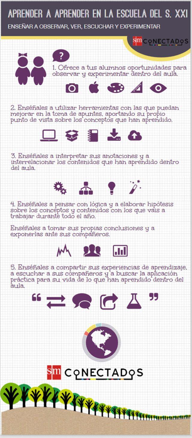 Aprender a aprender en la escuela del Soglo XXI #infografia #infographic #education