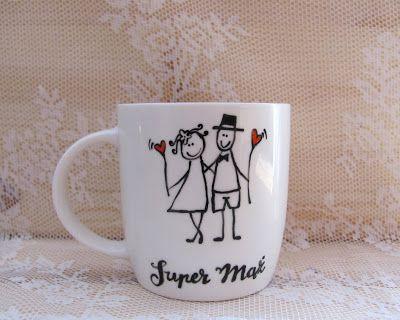 Kubki #mug #mugs #kubek #kubki #komplet #komodapomyslow #kartka #kartki #slub #wesele #ozdoba #wedding #weddingidea #idea #couple #marrige #handpainted #recznie #malowany #diy #handmade #design