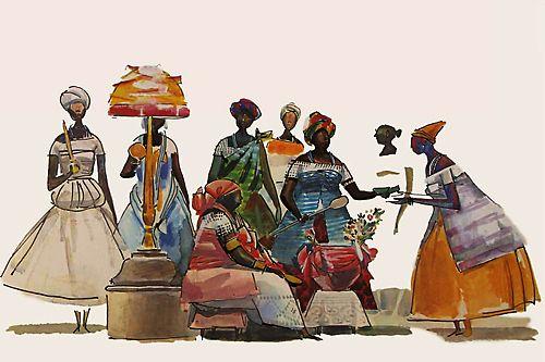 Baianas (Caribé) Elfi Kürten Fenske: Carybé (Hector Julio Páride Bernabó) - A arte e a paixão pela Bahia