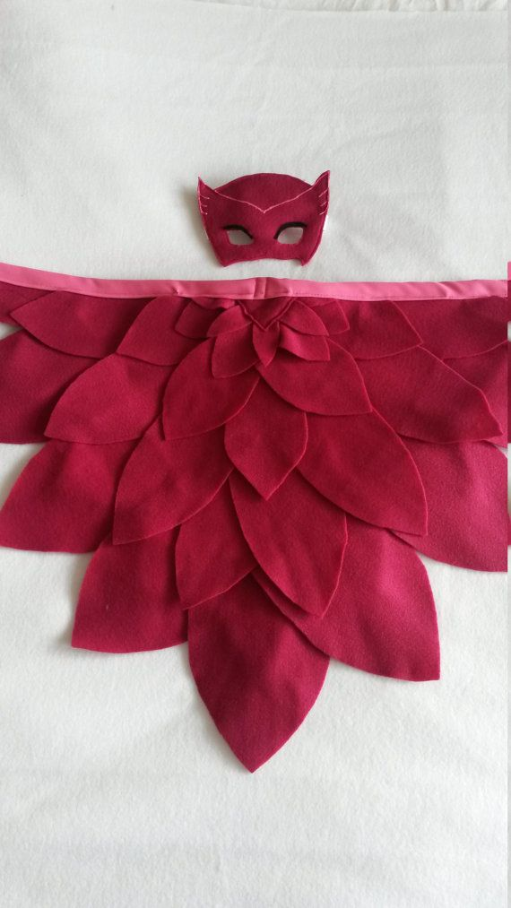 Owlette Wings and Mask: Magical Bird. Available in different
