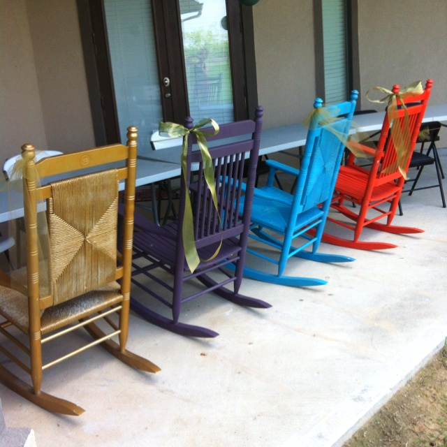 Cracker Barrel Rocking Chairs I Sanded And Painted