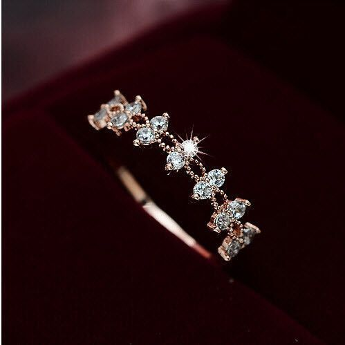 Zircon Wedding Band Ring Fashion Lace Rings boho Jewelry.