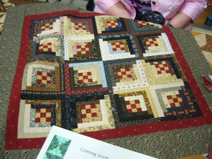 Top by Candy Hargrove-class at The Rabbit's Lair in Rogers, AR: Crafts Ideas, Beautiful Quilts, Primitive Projects, Cabins Quilts, Candy Hargrove Class, Pieces Quilts, Logs Cabins, Quilts Bees, Needlework Shops