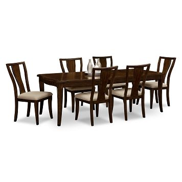 westin dining room 7 pc dinette value city furniture