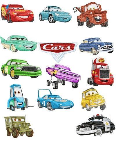Pixar Car - 42 designs - Free Machine Embroidery Designs Download