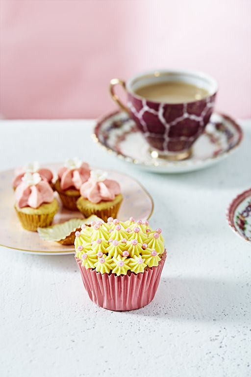 Some professional shots of my cupcakes, which will appear in a cookbook shortly