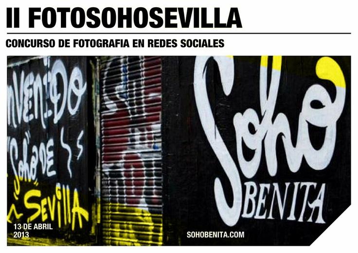 ¿Te animas a participar en nuestro II FOTOSOHOSEVILLA? Segundo concurso de fotografía en redes sociales. Premios, bases y toda la info en nuestra web: sohobenita.com