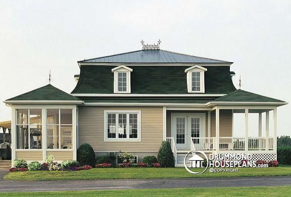 One Story Mansard Style Home French Cottage Mansard