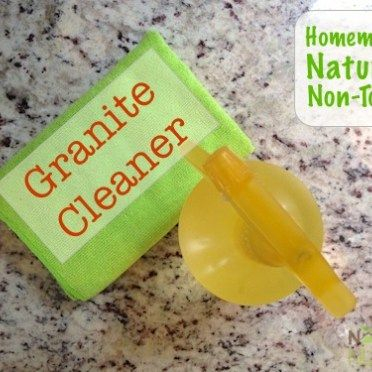 Natural Homemade Granite Cleaner