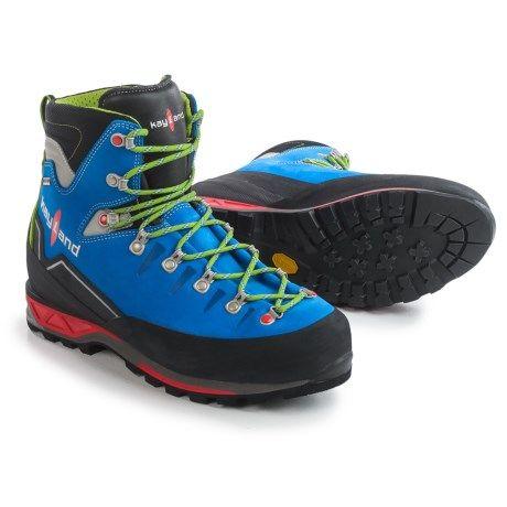 Kayland Super Rock Gore-Tex® Mountaineering Boots - Waterproof (For Men) in Cobalt Lime