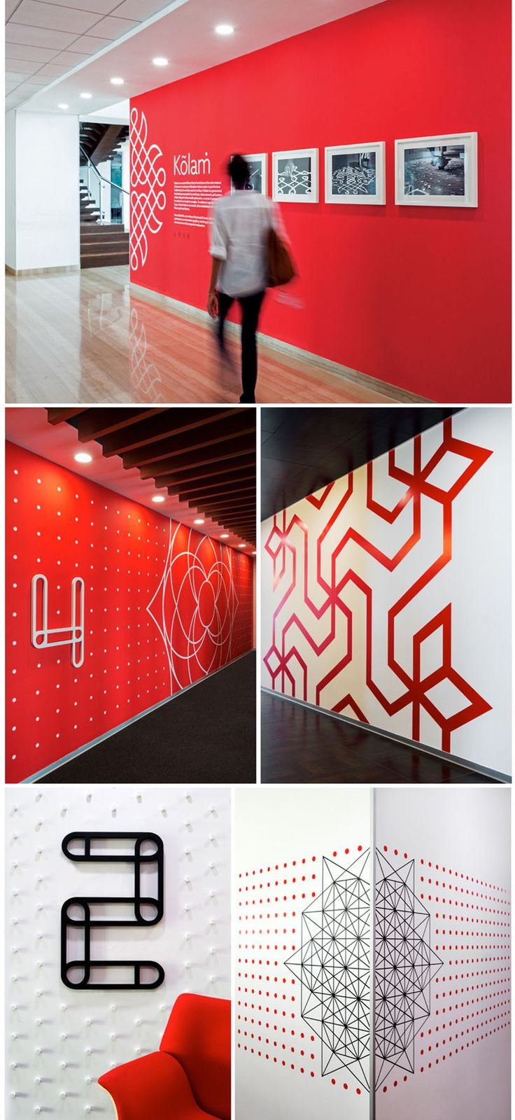 Wall Graphics In This Office Were Inspired By Indian Folk Art
