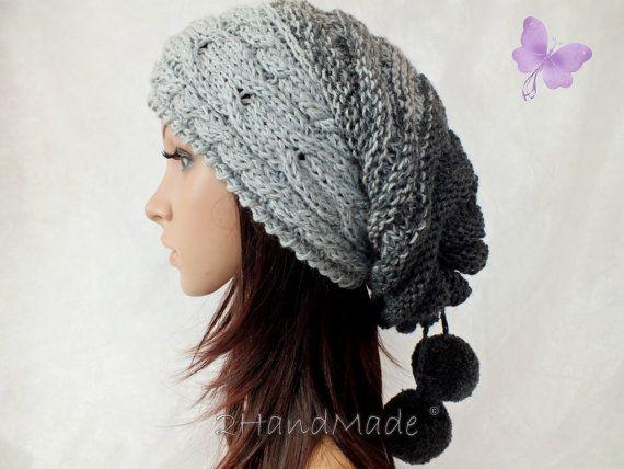 Slouchy Beanie sombrero flexible de gran tamaño por 2HandMade