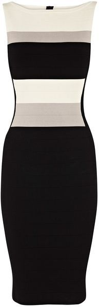KAREN MILLEN Graphic Block Bandage Knit