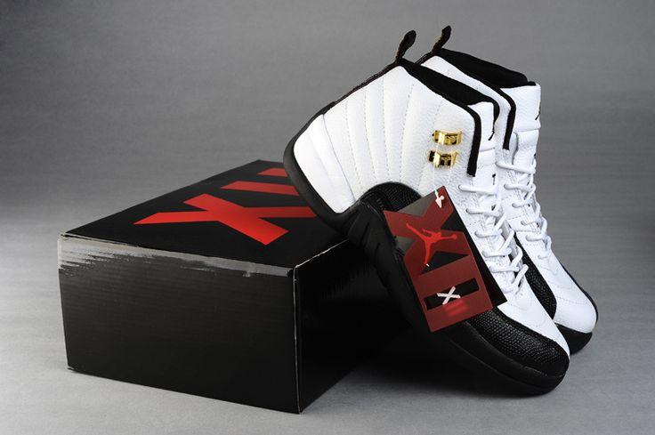 Air Jordan 12 Mens Shoes Aaa Black/White Online