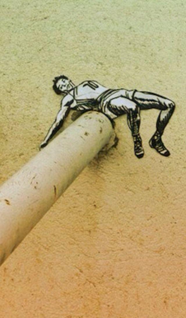 street art by Joe Iurato http://restreet.altervista.org/le-installazioni-intagliate-nel-legno-di-joe-iurato/