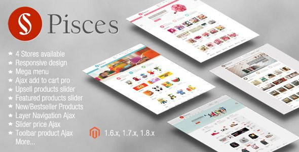 Pisces - Multipurpose Responsive Magento Theme