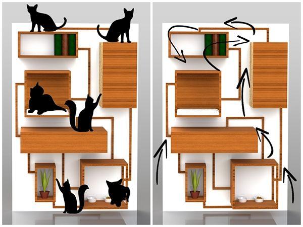 Multifunctional cat furniture on Behance