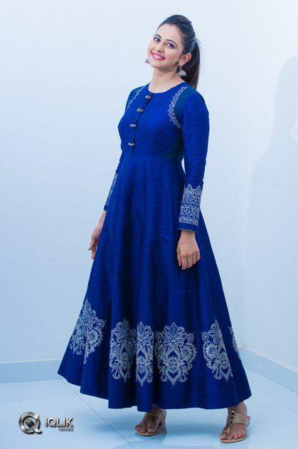 b5e7cfe131 Rakul-Preet-Singh | raj | Silk gown, Rakul preet singh saree, Indian  designer wear