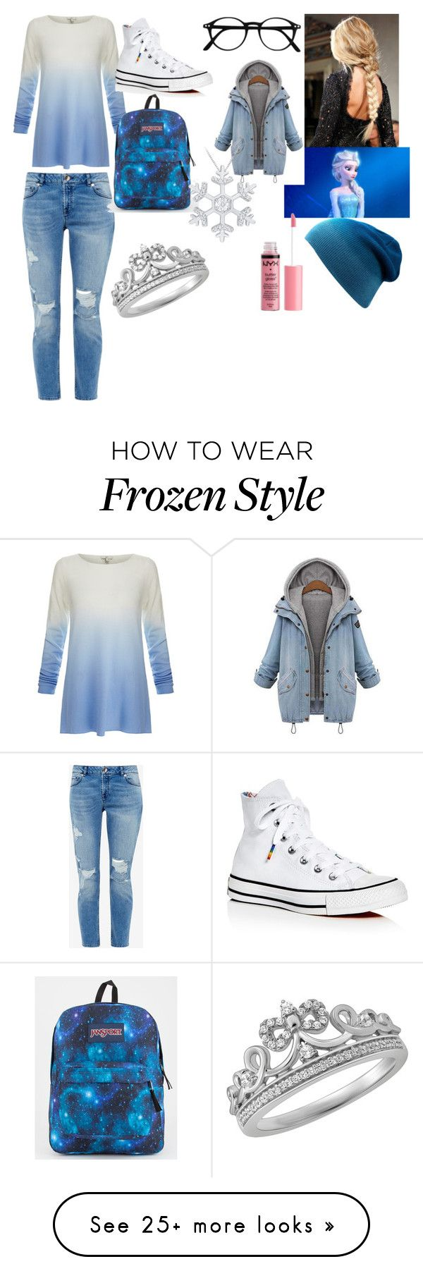 """Elsa set for a book I'm writing"" by raven-sparrow on Polyvore featuring Joie, Ted Baker, Converse, JanSport, Disney and Charlotte Russe"