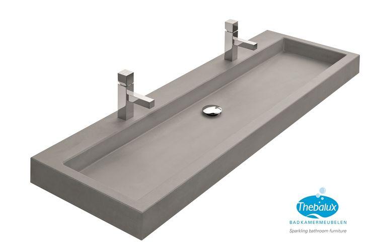 Thebalux kan nu ook wastafels van 140cm breed leveren. Wastafels van keramiek, mineraalmarmer en beton in 80cm, 100cm, 120cm en zelfs 140cm breed!U kunt deze prachtige wastafels combineren met b...