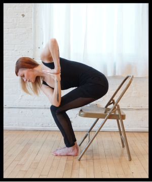 Sadie Nardini's Top 5 Chair Yoga Poses for Strength #officeyoga