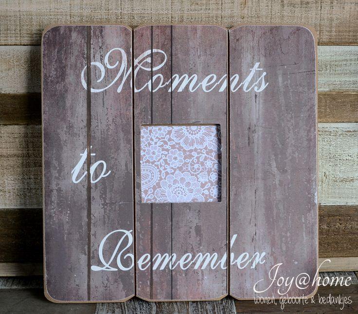 Fotolijstje van houten planken