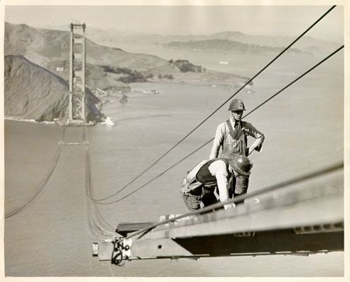 GOLDEN GATE BRIDGE CONSTRUCTION, 1935