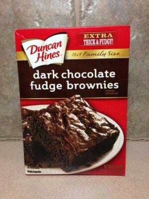 Duncan Hines Dark Chocolate Fudge Brownies Vegan