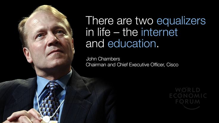 John Chambers, Chairman and Chief Executive Officer, Cisco, speaking in the session, The New Digital Context http://wef.ch/s1KQX