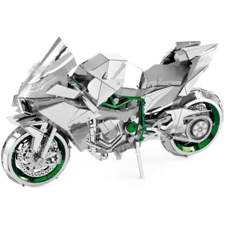 Iconx 3D Metal Model Kit, Kawasaki Ninja H2R, Assorted