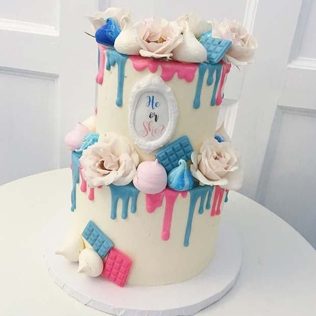 21 Cute And Fun Gender Reveal Cake Ideas With Images Gender