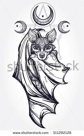 Bat Tattoo Stock Vectors & Vector Clip Art | Shutterstock