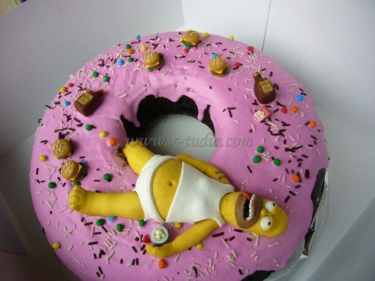 Cake Homero Simpson En Donna Tortas Tematicas