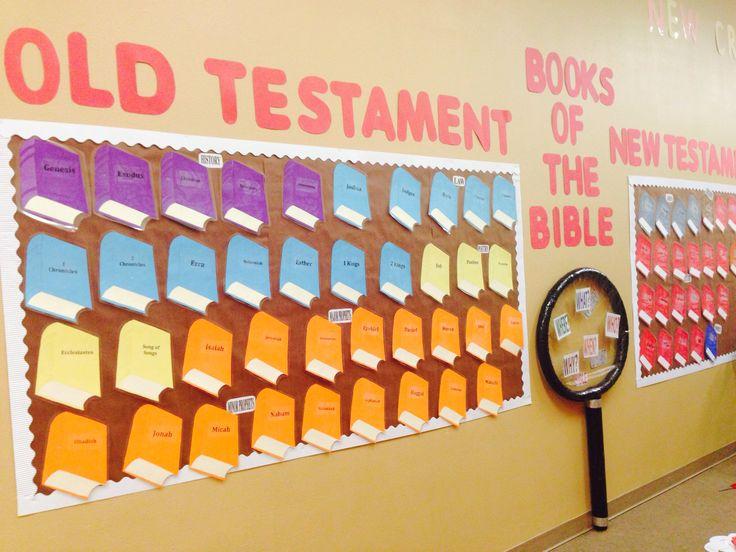 Em Setembro, o manual dos Primários pede um painel com os livros da Bíblia