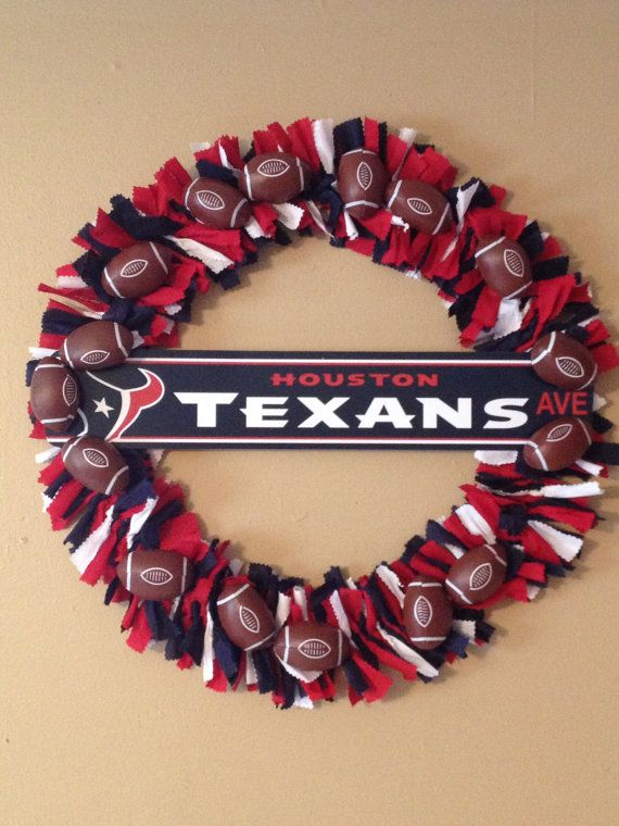Houston Texans Wreath by MandiesCelebrations on Etsy, $40.00