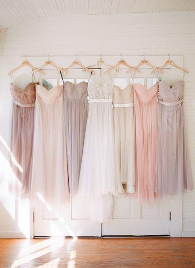 pretty pastel bridesmaid dresses | J Layne Photography