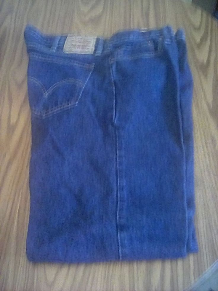 Men's LEVI's 505 Regular /  Straight Fit Blue Jeans Red Tab Tag 40 X 30 #levis #Straight