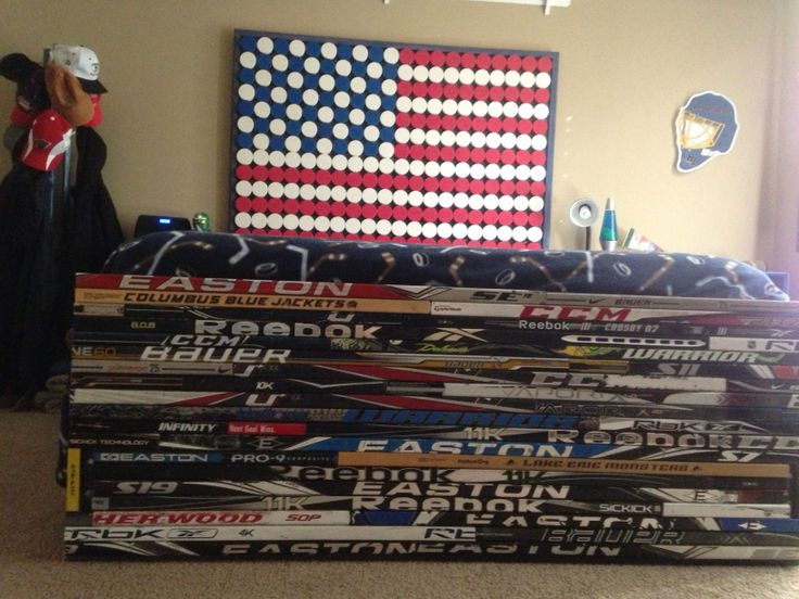 93 best images about new hockey room ideas for derek on for American flag bedroom ideas