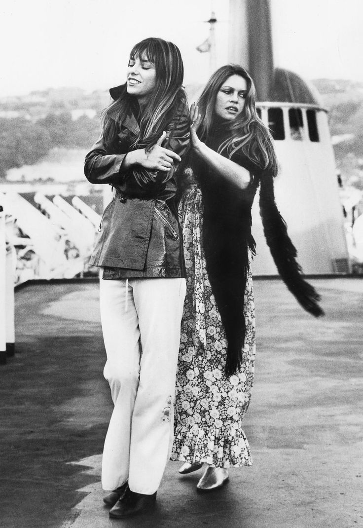 October 9, 1972  Brigitte Bardot and Jane Birkin on the set of If Don Juan Was A Woman.