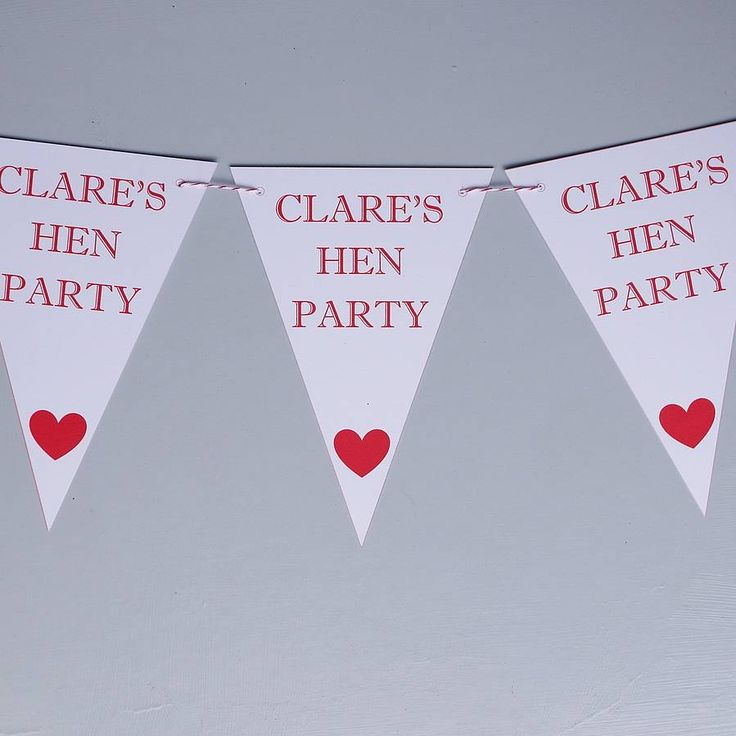 personalised hen do bunting