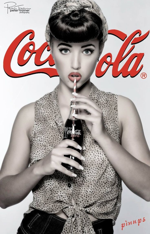 coca cola pin up