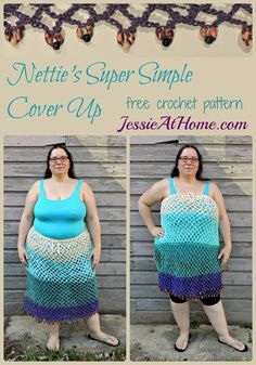 Get ready for the beach with this easy crochet cover up! Get the free pattern by Jessie at Home and make it with Lion Brand 24/7 Cotton!