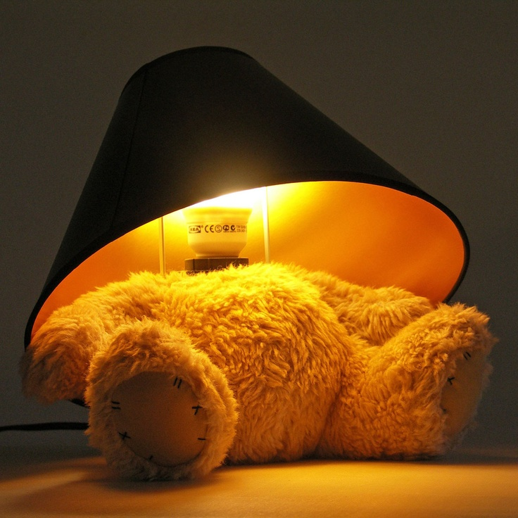 The Teddy Bear Lamp. For fans of bears who also have really dark homes.
