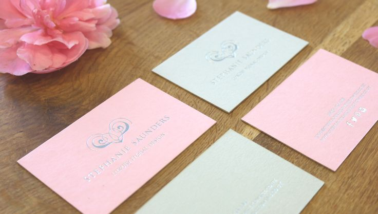 Stephanie Saunders Flowers, Luxury Floral Design, Business Stationery, Business Cards, Foiling. By Leaff Design, Worcester UK.