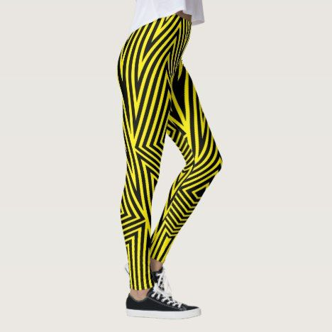 Rainbow Rex Retro Leggings: Yellow Leggings #rainbow #leggings #women