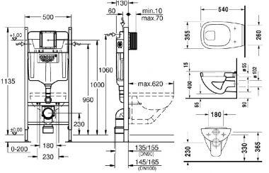 Grohe WC tartály - Duravit D-Code WC csésze sík 221009-38840   Szaniteronline - Saniterline Kft.