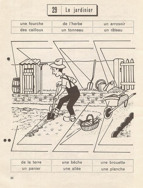 Le jardinier - exercices p30 by pilllpat (agence eureka), via Flickr