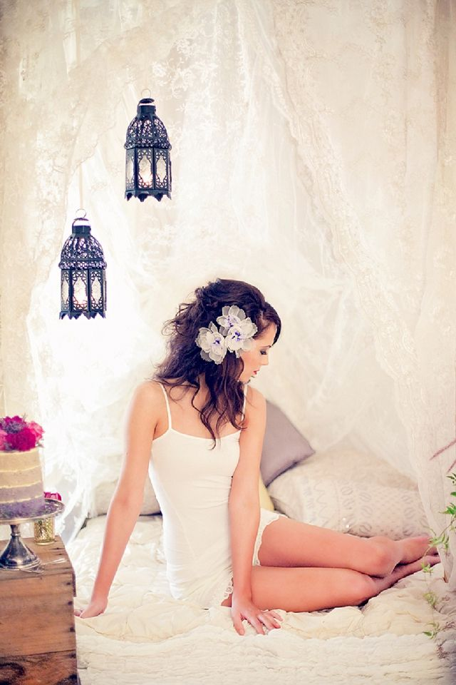 A Radiant Orchid Inspired Post Wedding Shoot by Rin Nelson featured on Paper & Lace