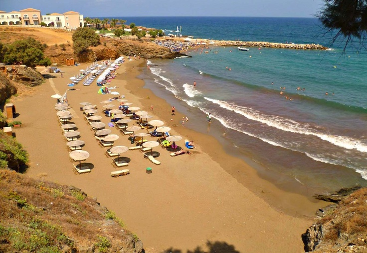 Panormo beach at 2 Kilometres